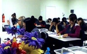 Students in classroom learning
